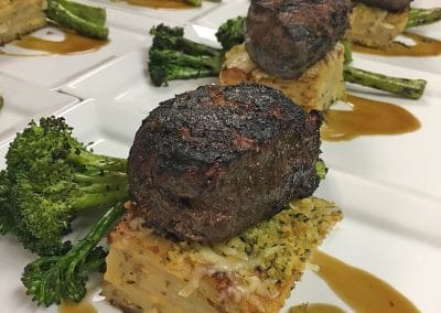 Filet dinners for a special wine tasting